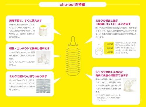 使い捨て哺乳瓶 チューボ 特徴
